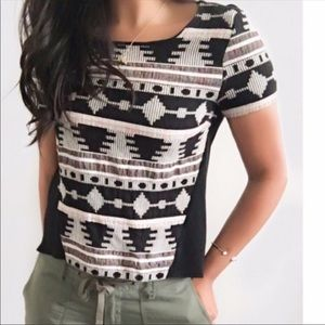 Anthropologie Sunday Brooklyn tribal embroider top